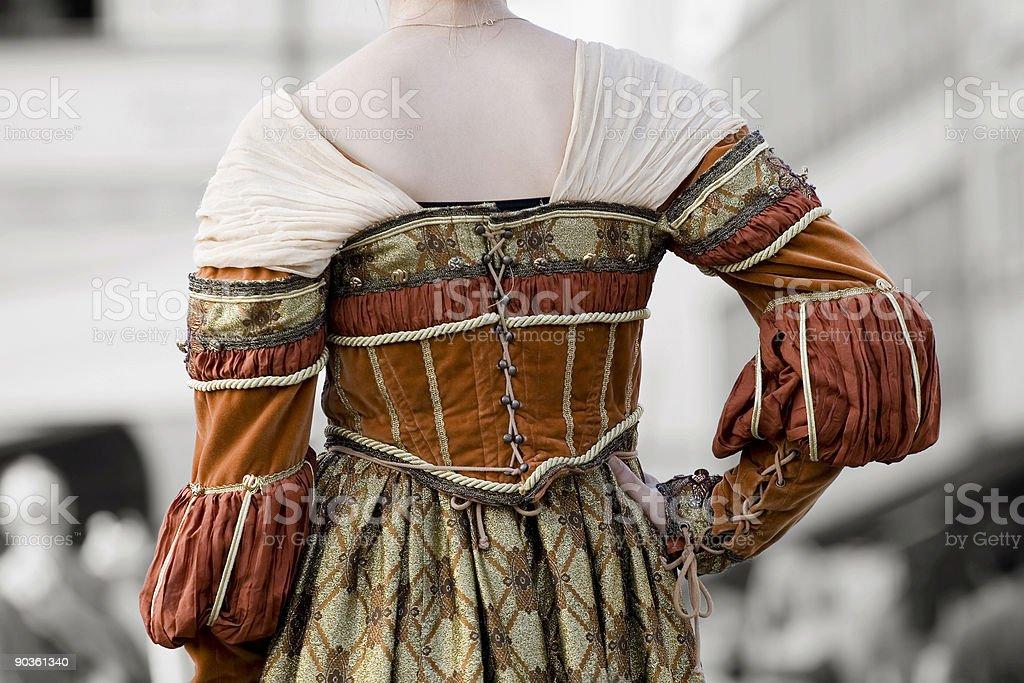 Period dress royalty-free stock photo