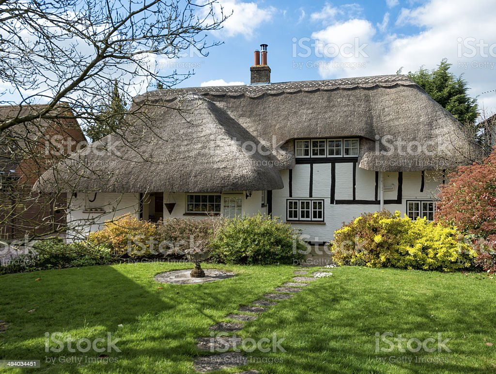 Period Thatched Cottage UK stock photo