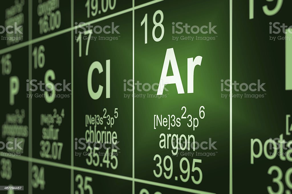 Periodic Table Argon stock photo