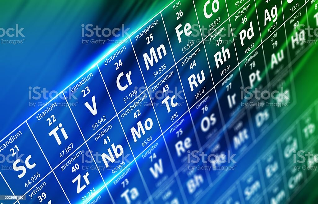Periodic Table Concept stock photo