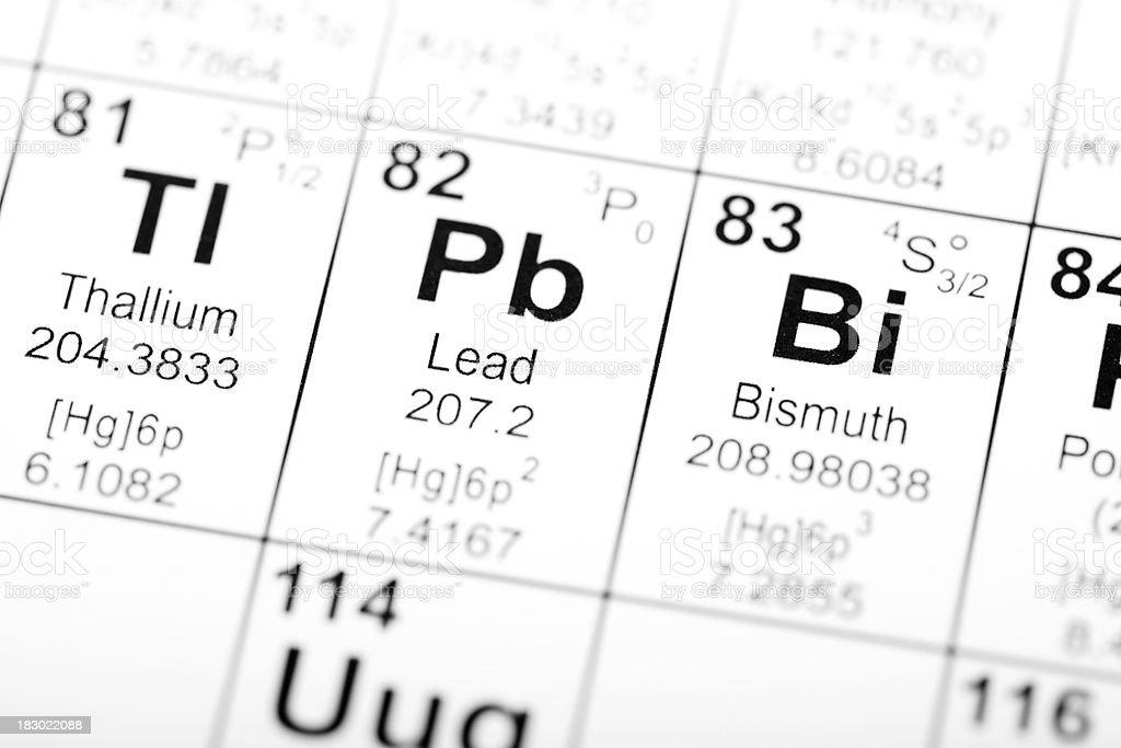 Periodic Table Elements Lead stock photo