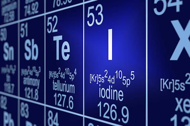 Periodic Table Iodine stock photo