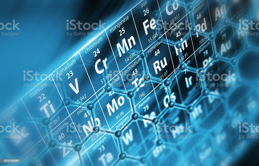 Periodic Table Molecules stock photo