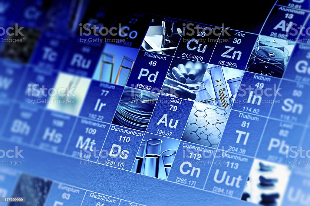Periodic table of elements. stock photo