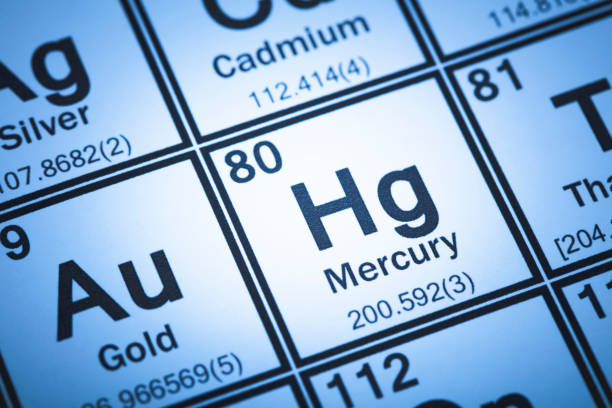 Periodic Table of the Elements A stock photo of the Periodic Table of the Elements. Focused on the Element Mercury Photographed using the Canon EOS 5DSR. mercury metal stock pictures, royalty-free photos & images