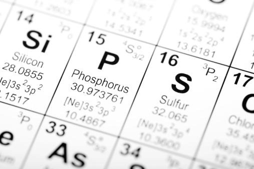 Periodic Table Phosphorus Stock Photo - Download Image Now