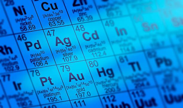 periodic table - mercury metal stock photos and pictures