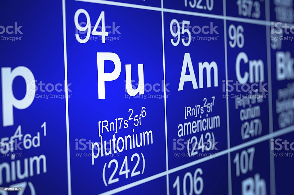 Periodic Table Plutonium royalty-free stock photo