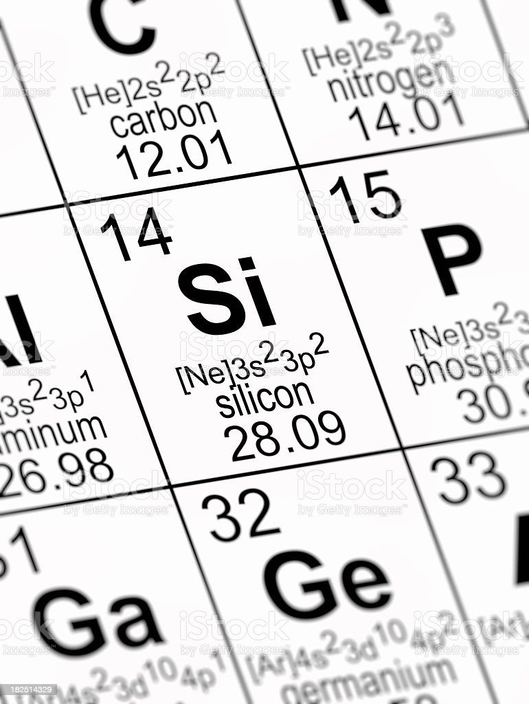 Periodic table silicon stock photo istock periodic table silicon royalty free stock photo gamestrikefo Image collections