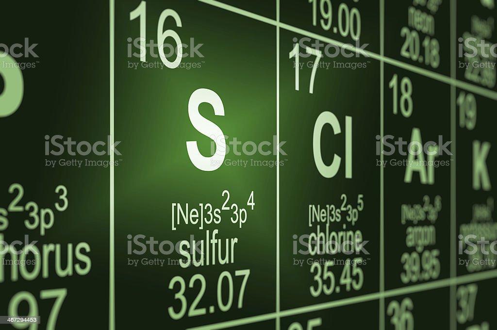 Periodic table sulfur stock photo more pictures of atom istock periodic table sulfur royalty free stock photo urtaz Image collections