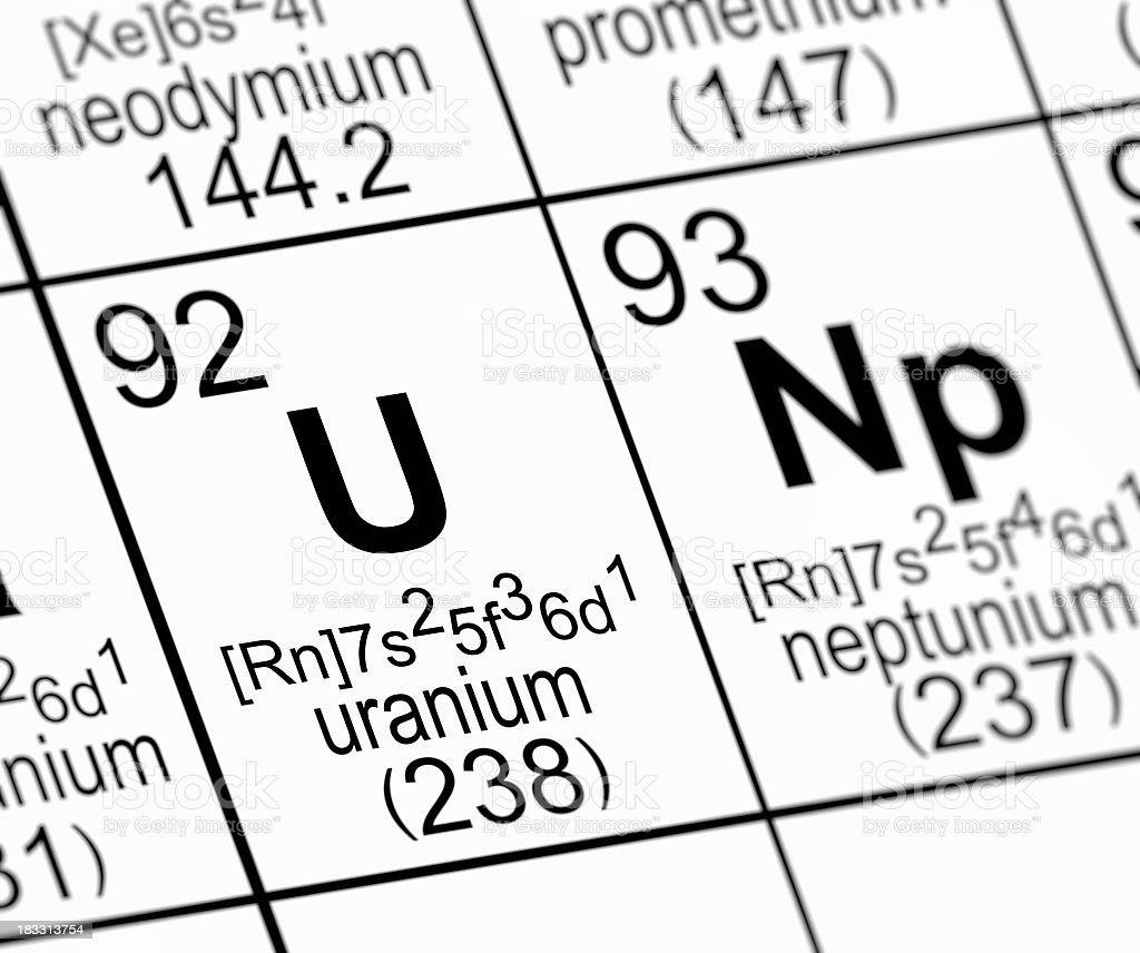Periodic table uranium stock photo 183313754 istock periodic table uranium royalty free stock photo gamestrikefo Choice Image