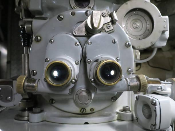 periscoop van een oude onderzeeër in de haven van Den Helder foto