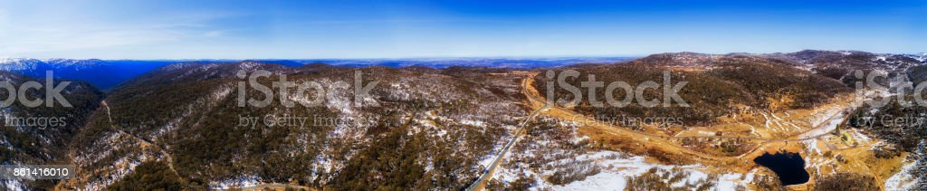 D SM Perisher Valley Chalet Blue Sky Pan stock photo