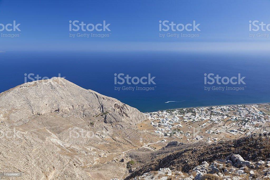 Perissa, Santorini stock photo