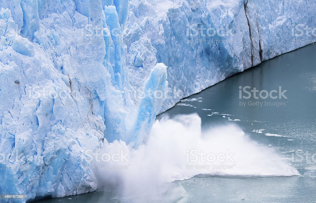 Perito Moreno - Falling down Glacier 09 royalty-free stock photo