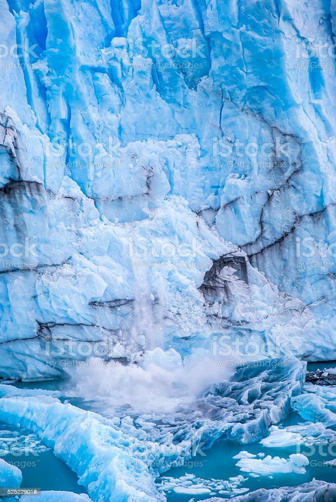 Perito Moreno Glacier brake down stock photo