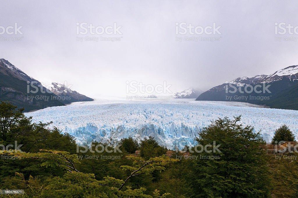 Perito Moreno Glacier in Patagonia (Argentina). Panoramic View royalty-free stock photo