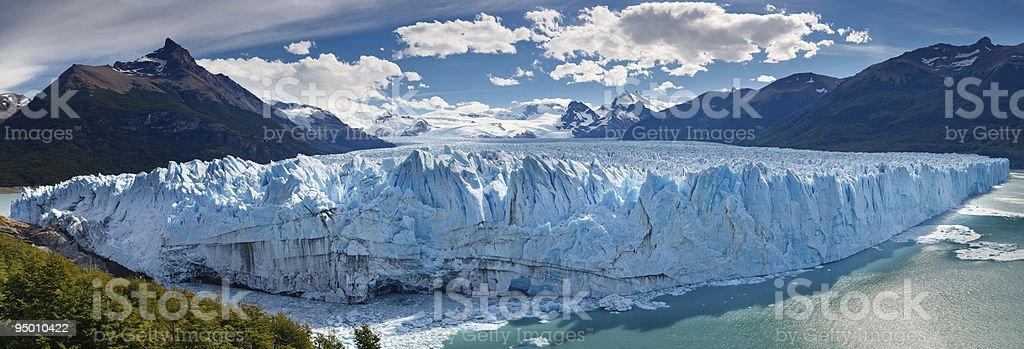 Perito Moreno Glacier, Patagonia, Argentina - Panoramic View royalty-free stock photo
