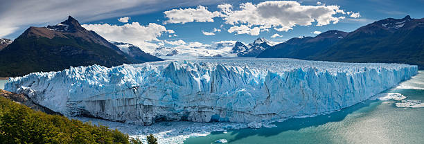 Perito Moreno Glacier, Patagonia, Argentina - Panoramic View stock photo