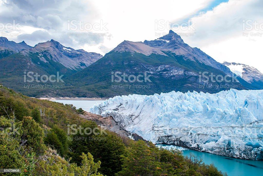 Perito Moreno Glacier view stock photo