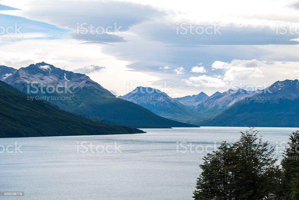 Perito Moreno view stock photo