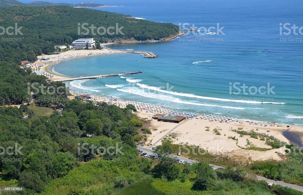 Perla beach stock photo