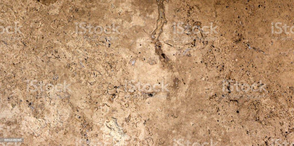 perla classic travertine texture background stock photo