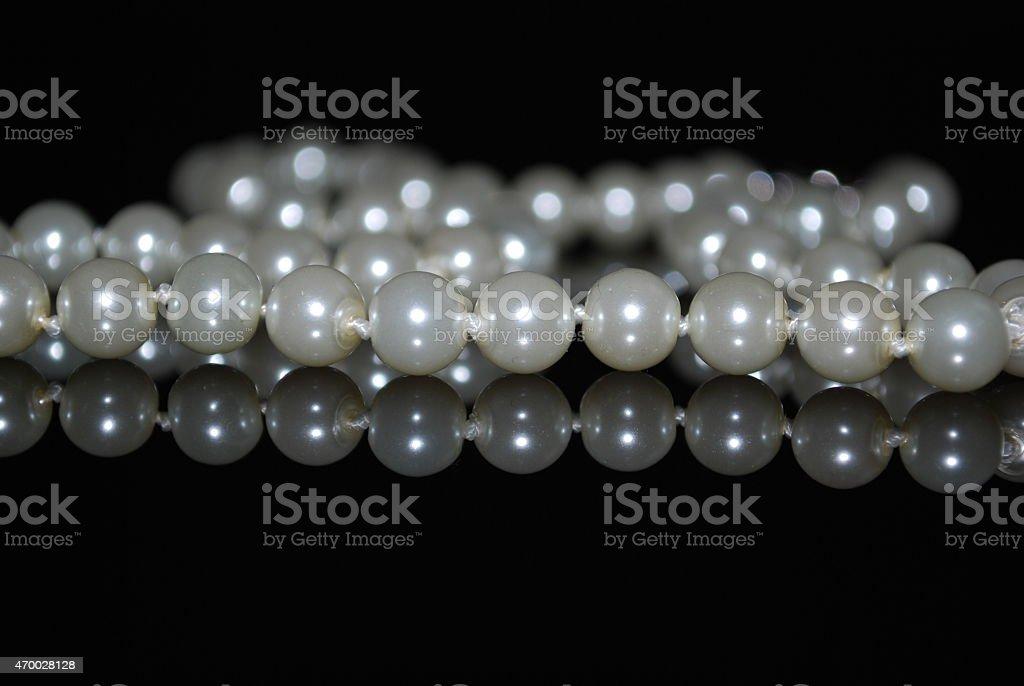 Perlenkette stock photo