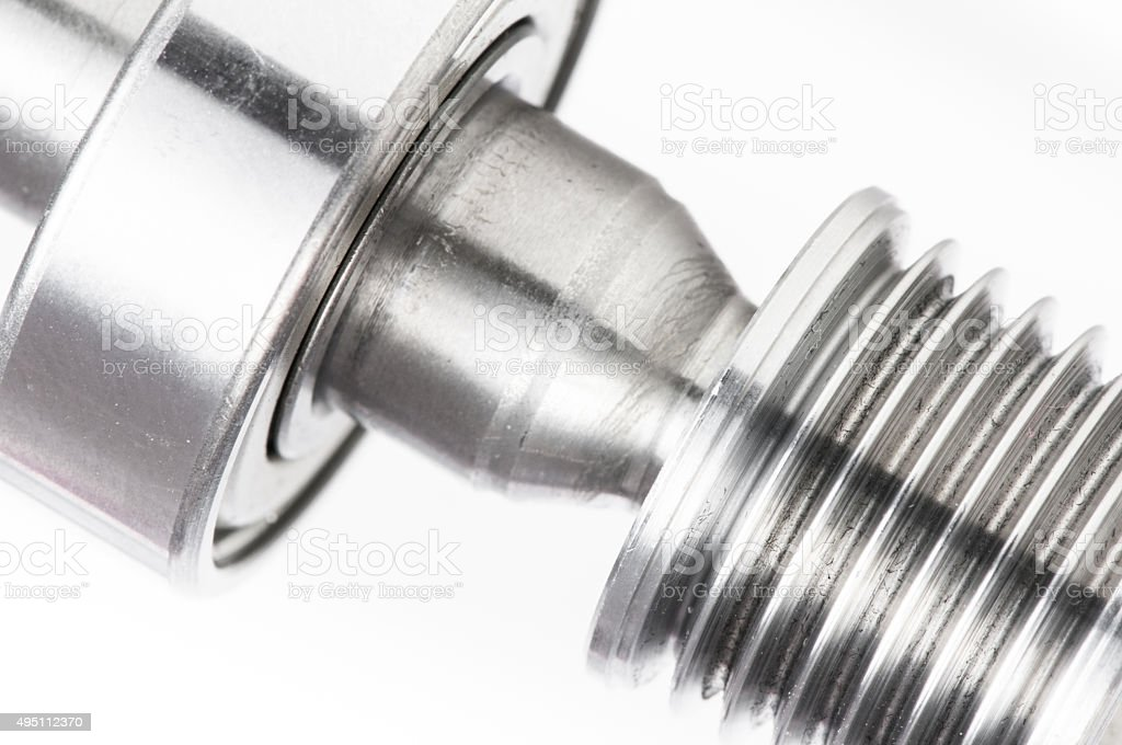 Permanent magnet motor disassembled close-up stock photo