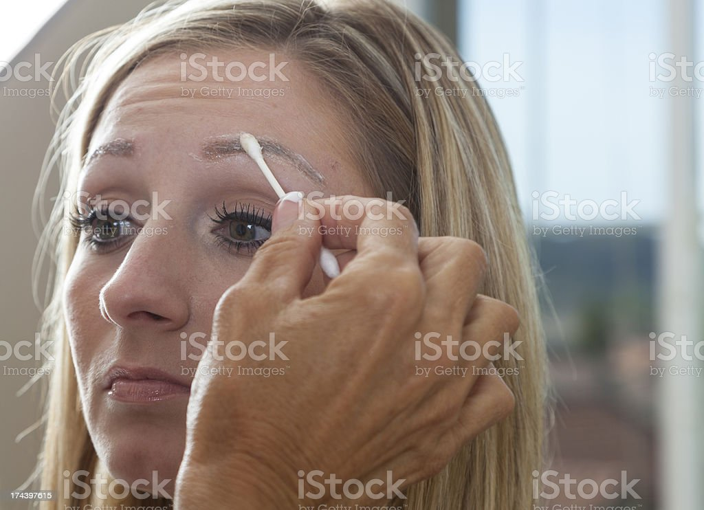 Permanent Makeup Prep royalty-free stock photo