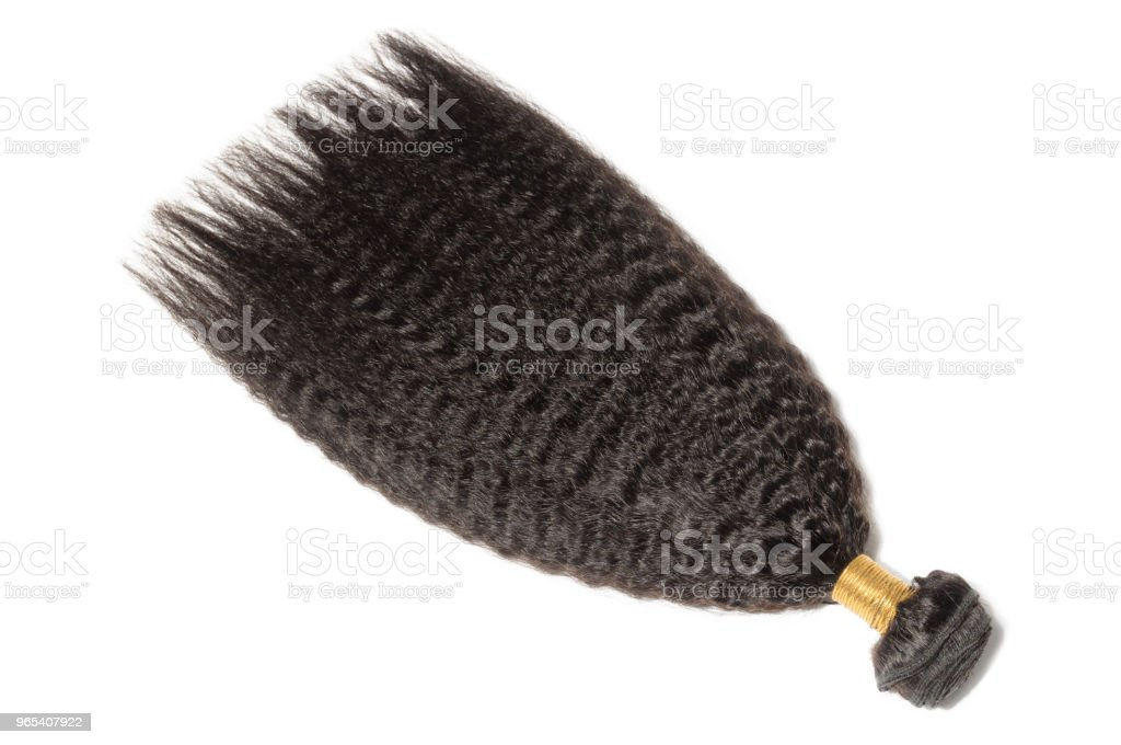 permed kinky straight  coarse afro style black human hair weaves extensions bundles royalty-free stock photo
