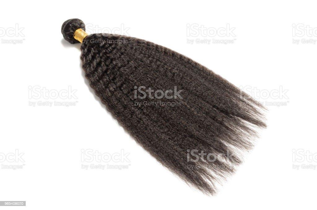 permed kinky straight  coarse afro style black human hair weaves extensions bundles zbiór zdjęć royalty-free