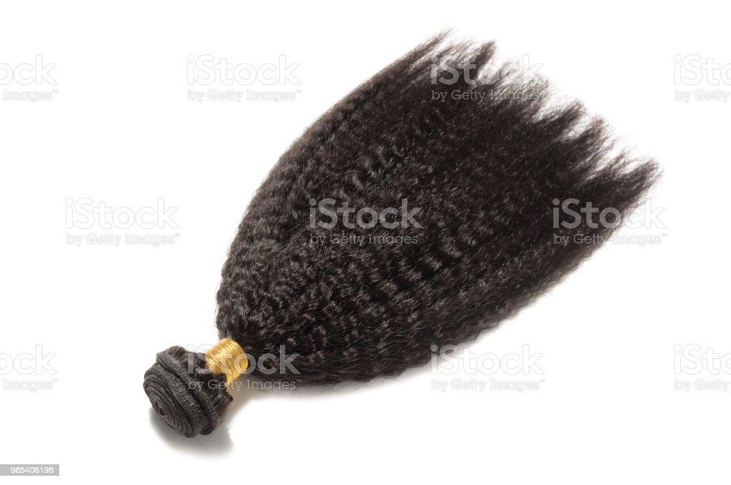 dauergewelltes versauten gerade grobe Afro Stil schwarz Echthaar webt Erweiterungen bundles - Lizenzfrei Afro-Frisur Stock-Foto