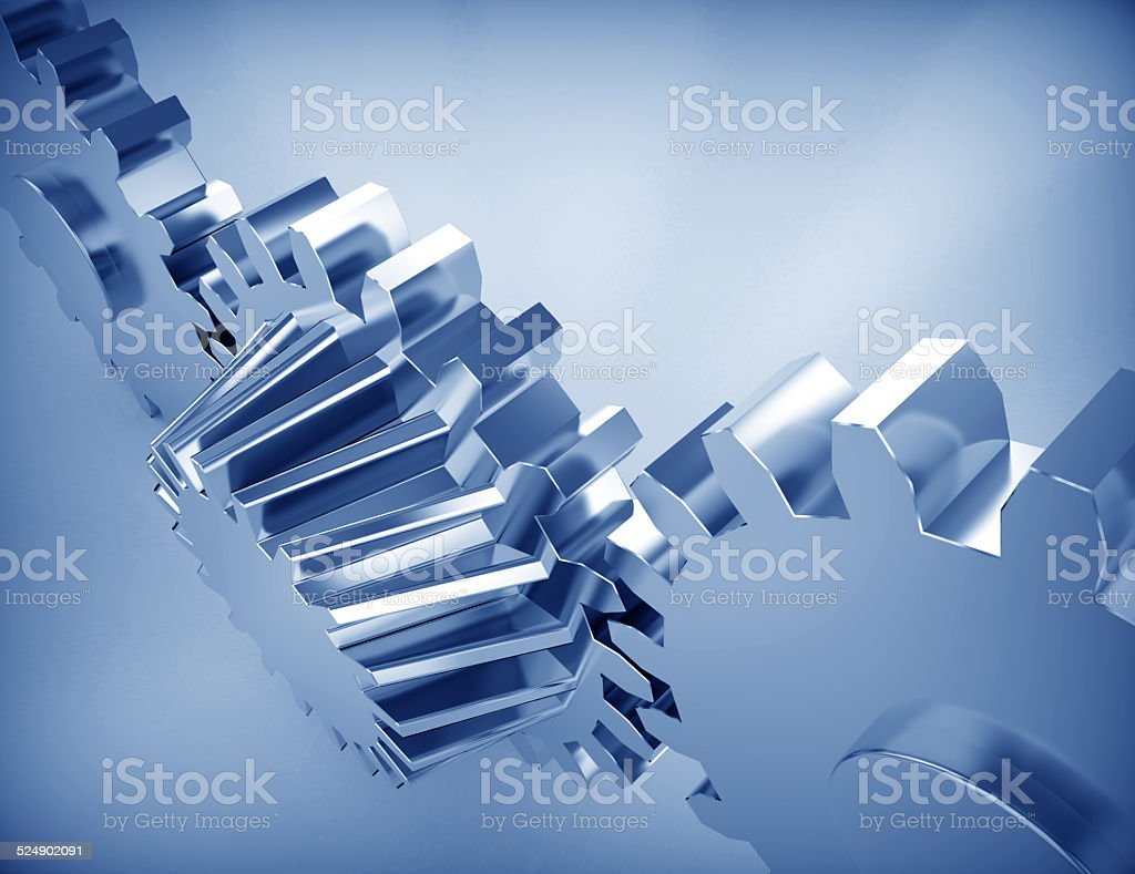 Perpetuum mobile : Gears stock photo