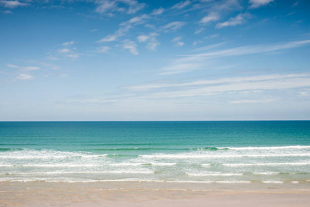 perranporth beach, near newquay cornwall - cornwall stock pictures, royalty-free photos & images