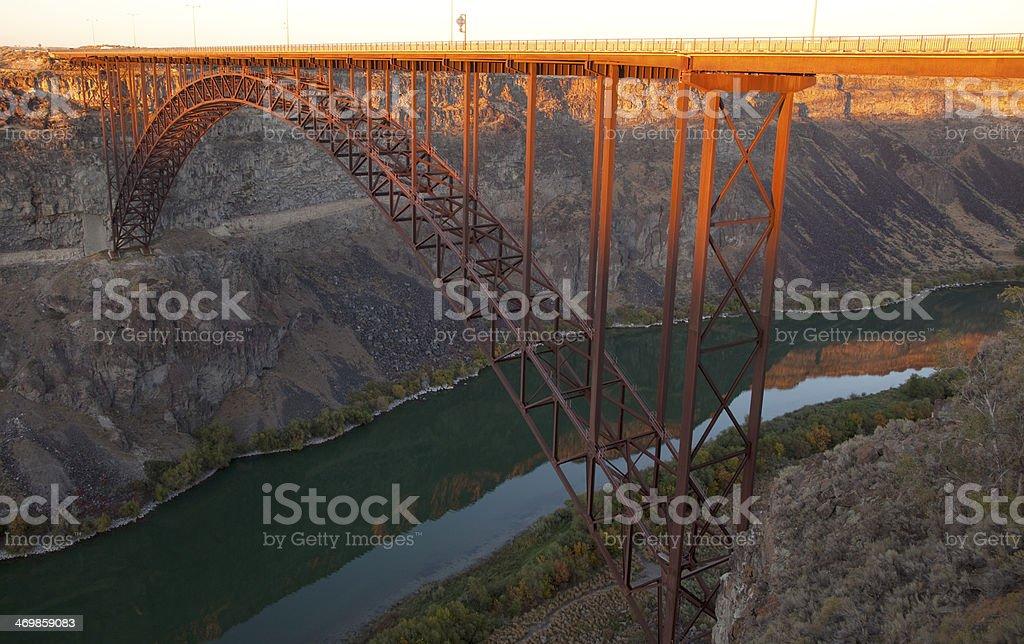 Perrine Bridge at Sunset stock photo