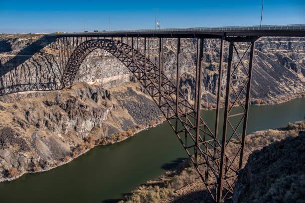 Perrine Bridge over the Snake River Canyon, Twin Falls, Idaho stock photo
