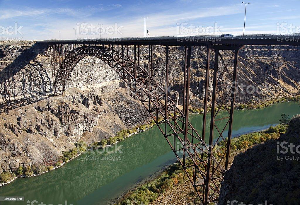 Perrine Bridge, Twin Falls, Idaho stock photo