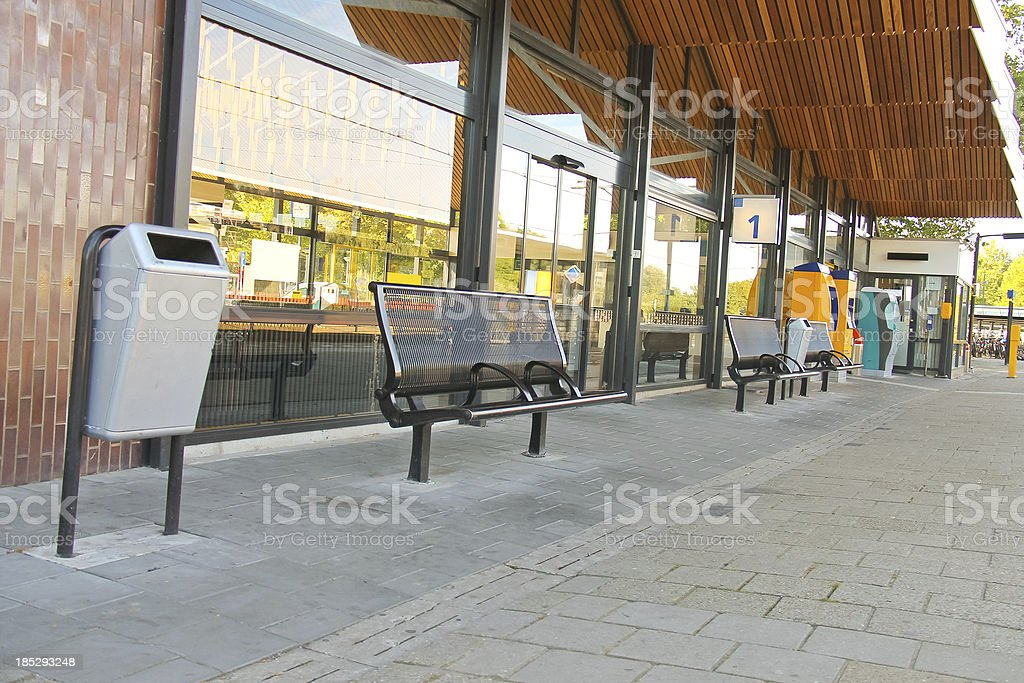 Perron provincial railway station. royalty-free stock photo