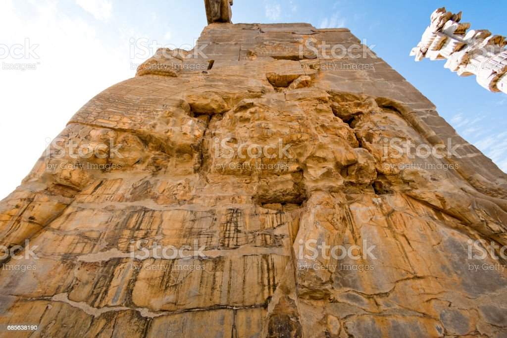 Persapolis, 偉大的波斯帝國的中心。 免版稅 stock photo