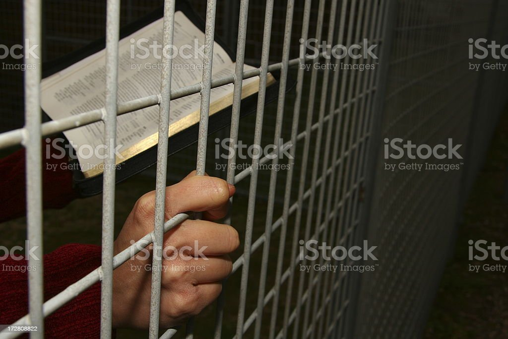 Persecuted Christian stock photo