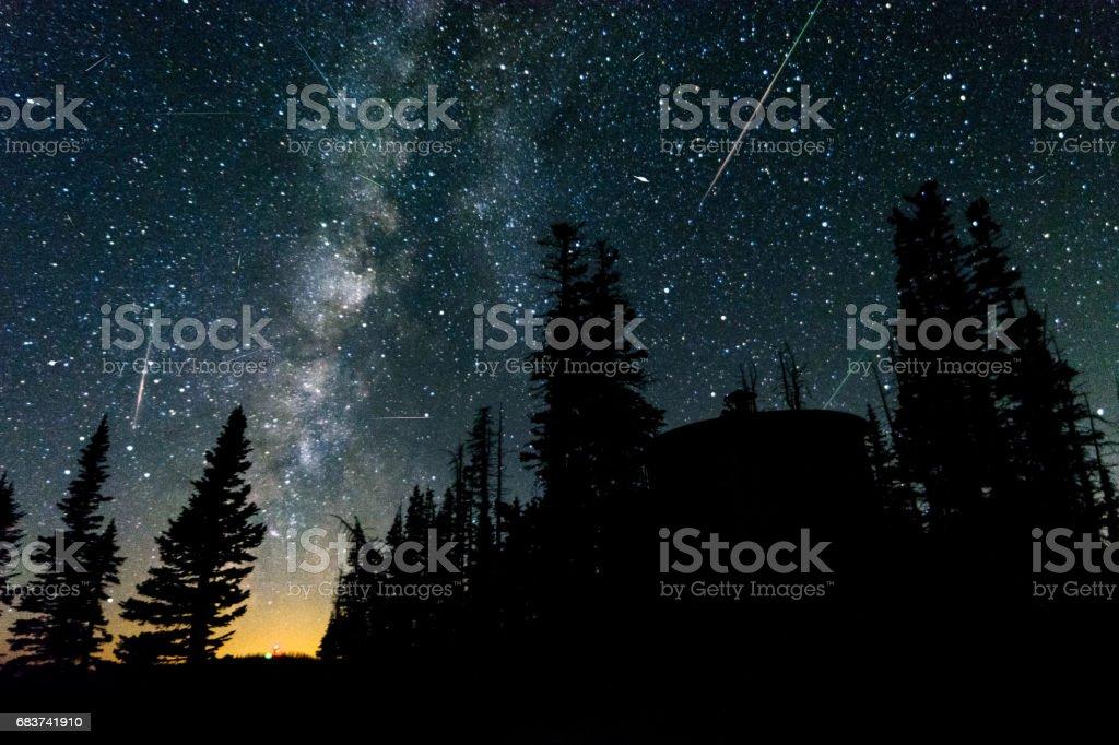 Perseid Meteor Shower stock photo