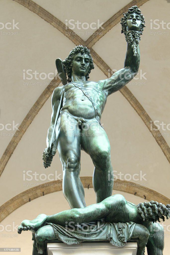 Perseus & Medusa royalty-free stock photo