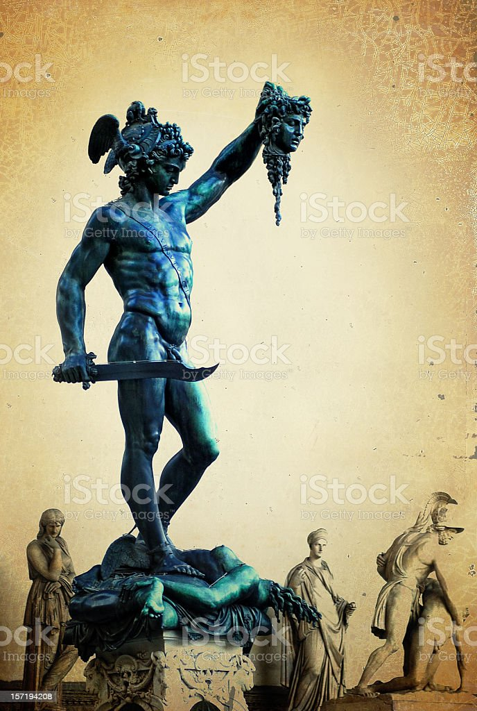 perseus vs. medusa stock photo