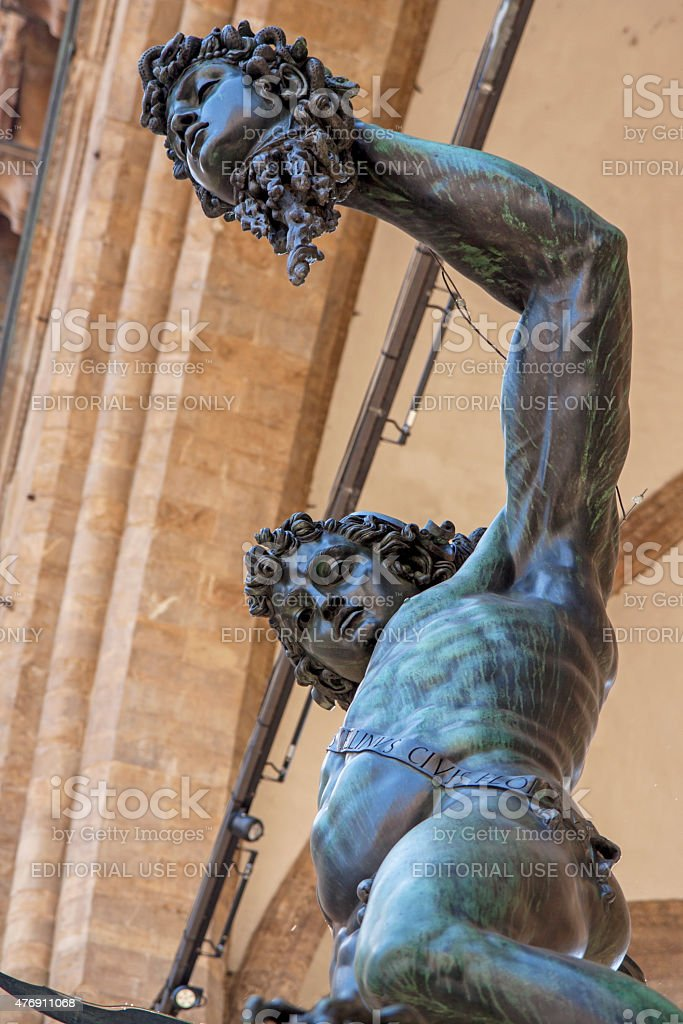 Perseus with the Head of Medusa stock photo