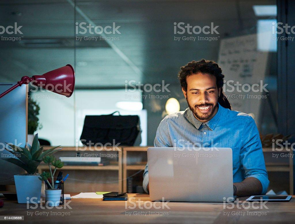 Persevere with a positive attitude stock photo