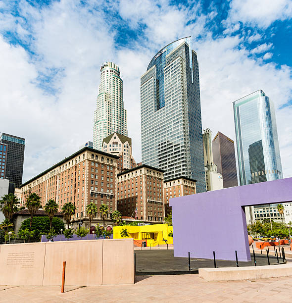 Pershing Square, Los Angeles stock photo