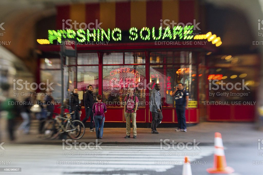Pershing Square stock photo