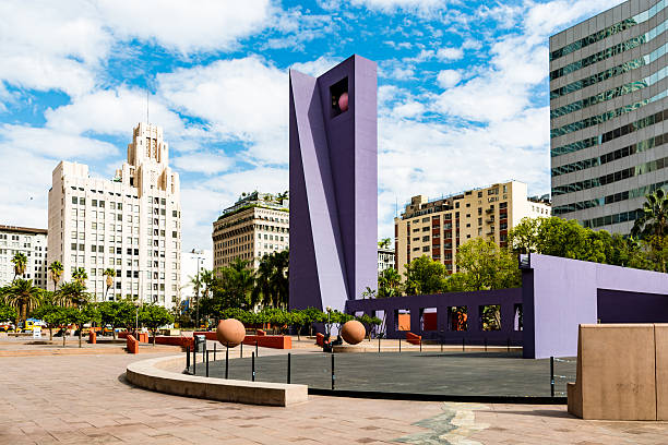 Pershing Square Space, Los Angeles stock photo
