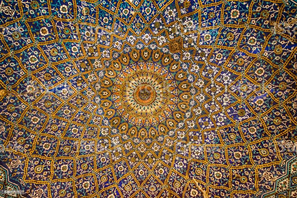 Persa arquitetura e decoração arte, Irã - foto de acervo